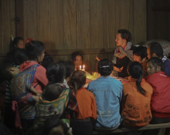 Yanti educates Laos girls by candlelight