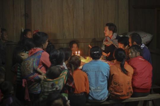 Yanti educates Laos girls by candlelight